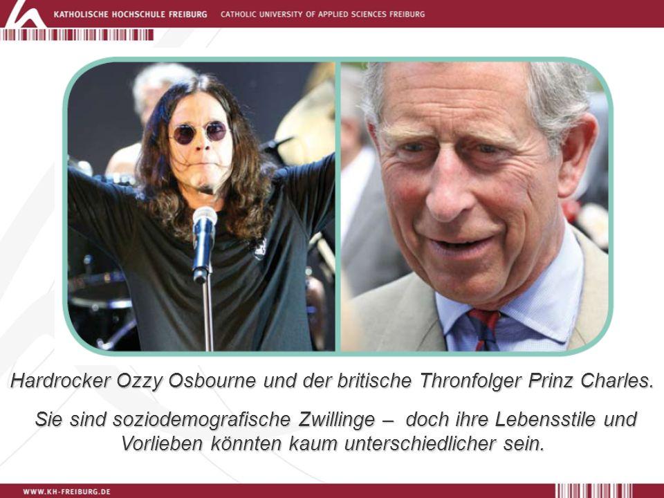 Hardrocker Ozzy Osbourne und der britische Thronfolger Prinz Charles.
