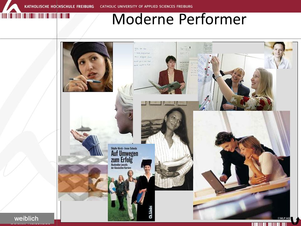 Moderne Performer weiblich