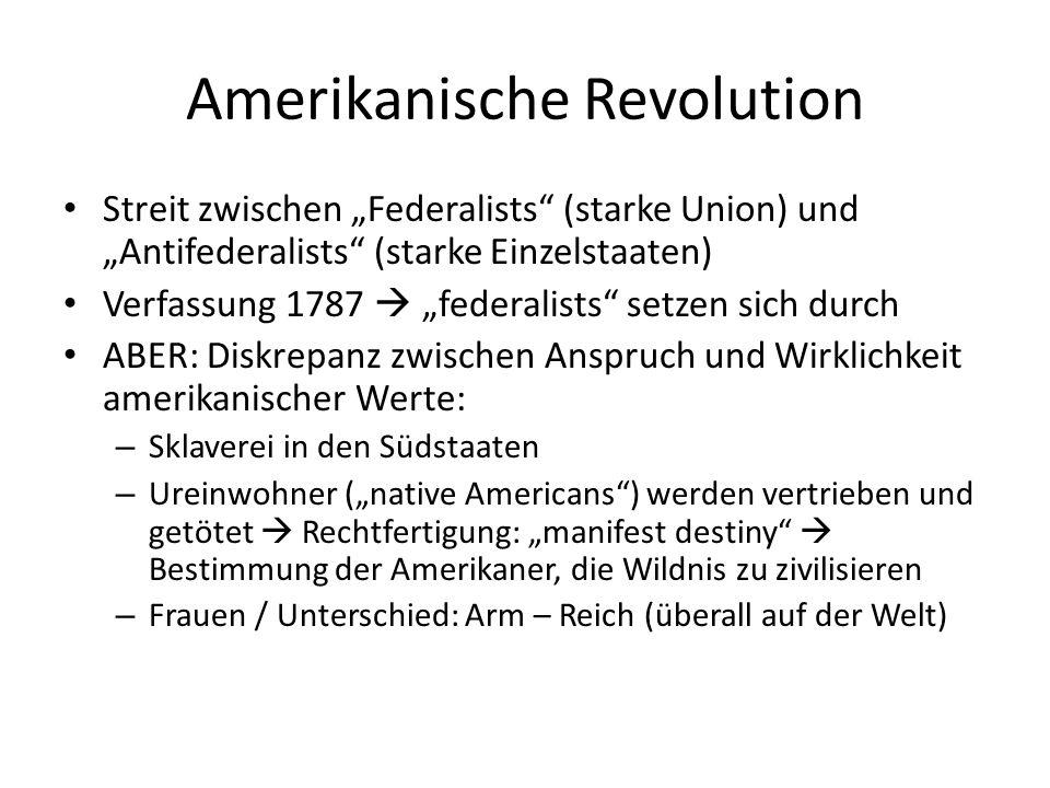 folgen der amerikanischen revolution