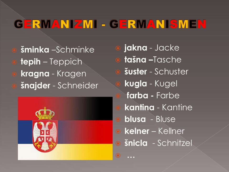 GERMANIZMI - GERMANISMEN