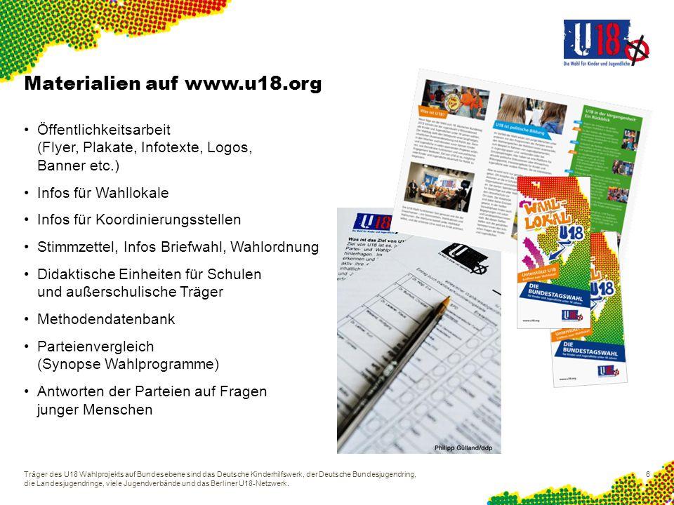 Materialien auf www.u18.org