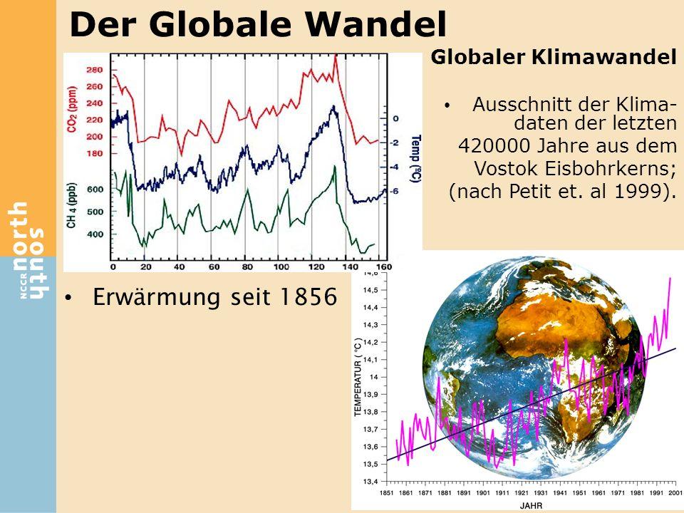 Der Globale Wandel Erwärmung seit 1856 Globaler Klimawandel