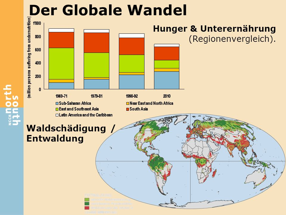 Der Globale Wandel Waldschädigung / Entwaldung Hunger & Unterernährung