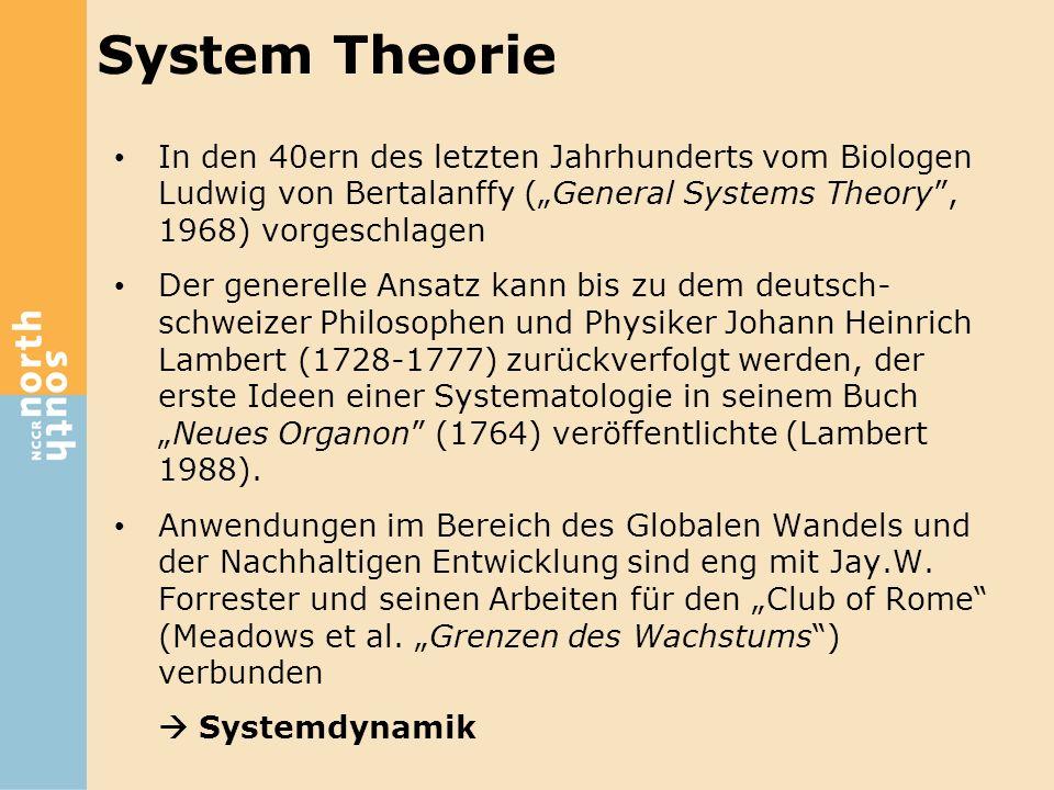 """System Theorie In den 40ern des letzten Jahrhunderts vom Biologen Ludwig von Bertalanffy (""""General Systems Theory , 1968) vorgeschlagen."""