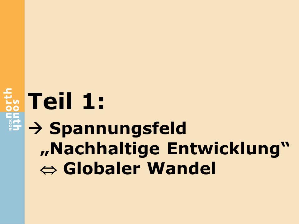 "Teil 1:  Spannungsfeld ""Nachhaltige Entwicklung  Globaler Wandel"