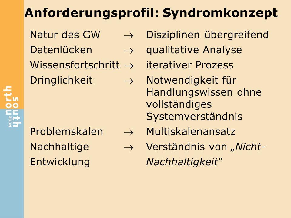 Anforderungsprofil: Syndromkonzept