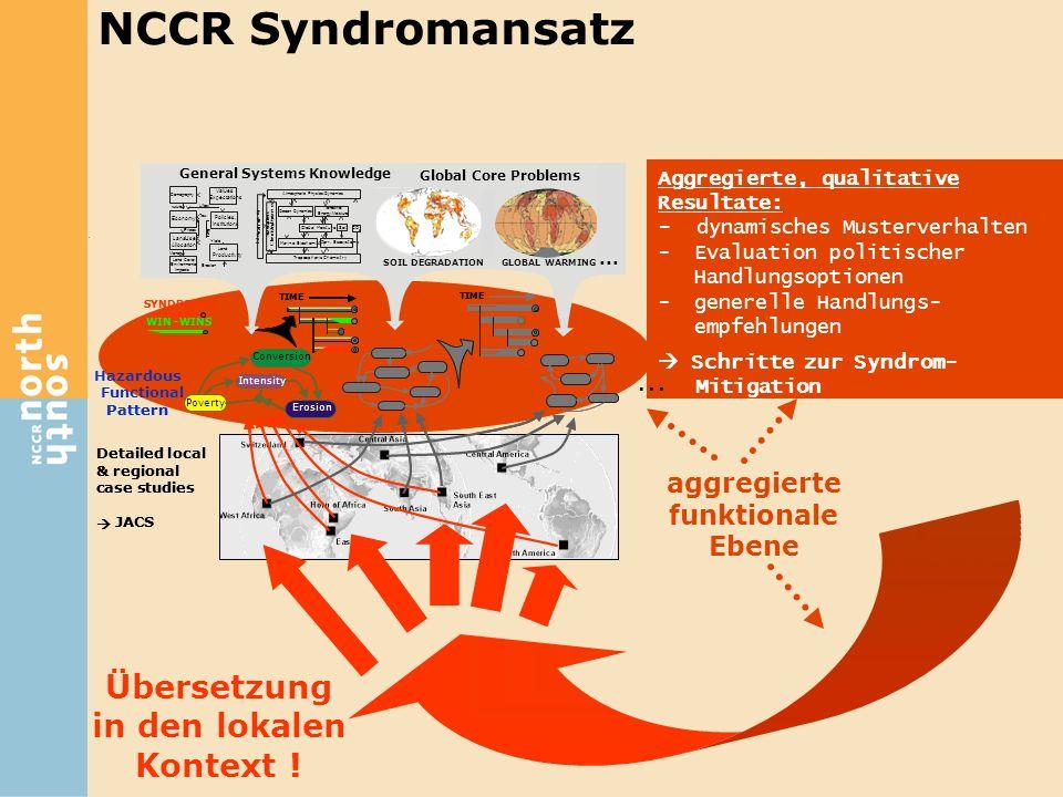 NCCR Syndromansatz Übersetzung in den lokalen Kontext ! ...