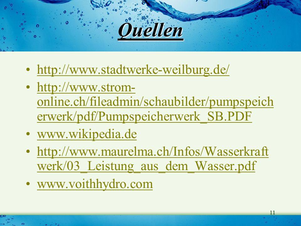 Quellen http://www.stadtwerke-weilburg.de/