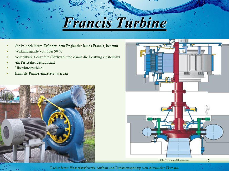 Fachreferat: Wasserkraftwerk Aufbau und Funktionsprinzip von Alexander Eismann