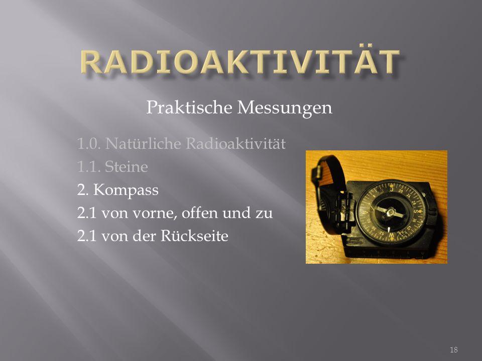 Radioaktivität Praktische Messungen 1.0. Natürliche Radioaktivität