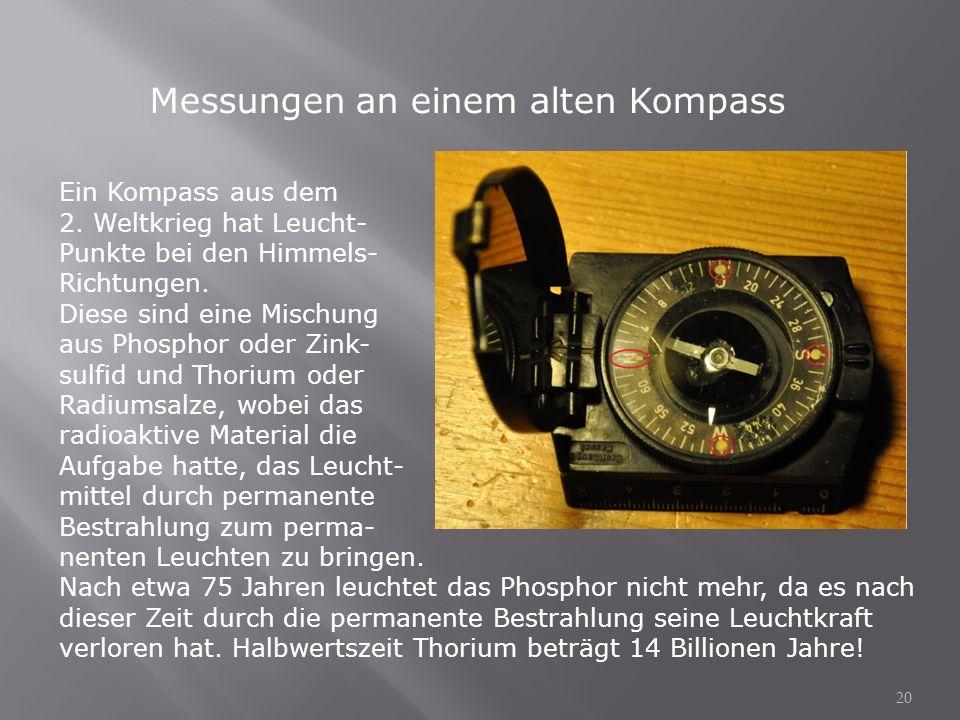 Messungen an einem alten Kompass