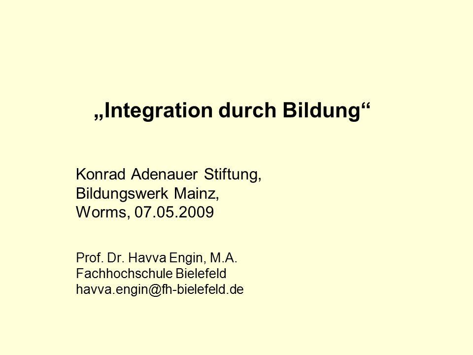 """Integration durch Bildung"