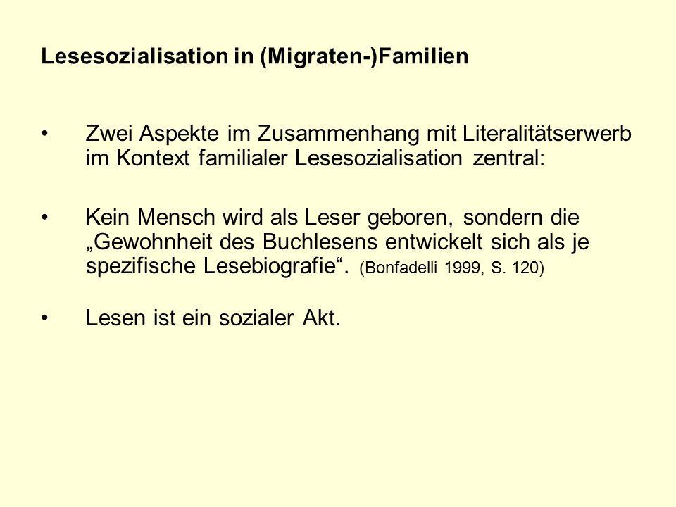 Lesesozialisation in (Migraten-)Familien