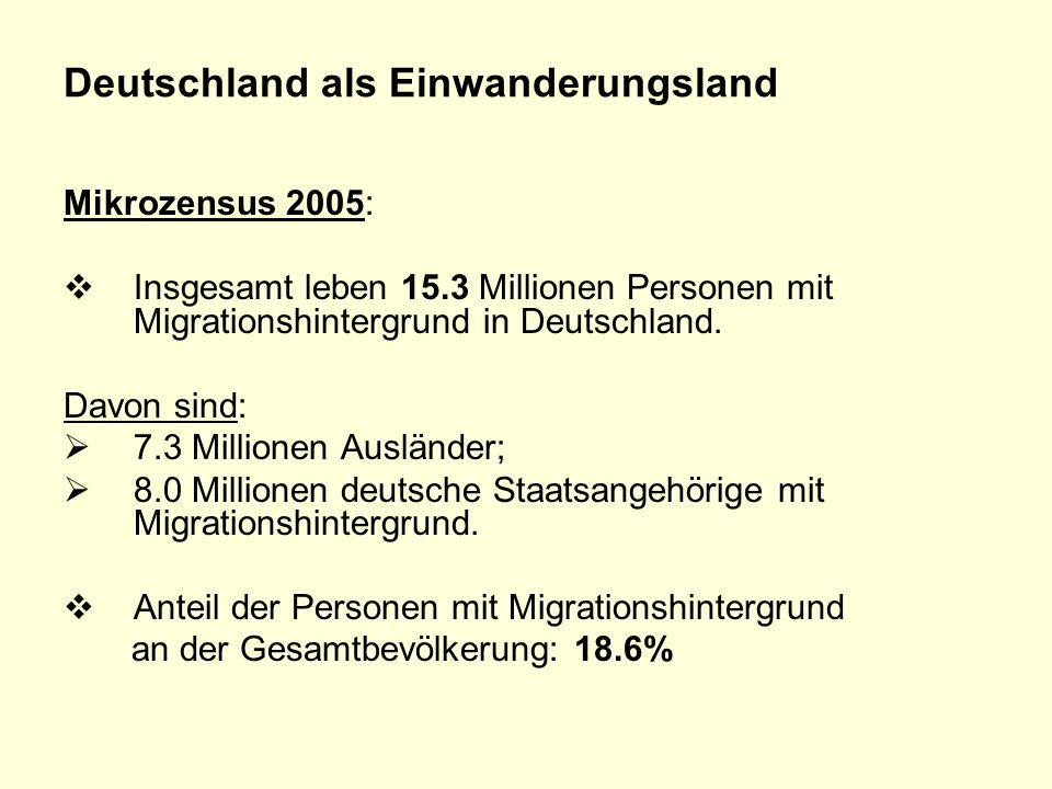Deutschland als Einwanderungsland