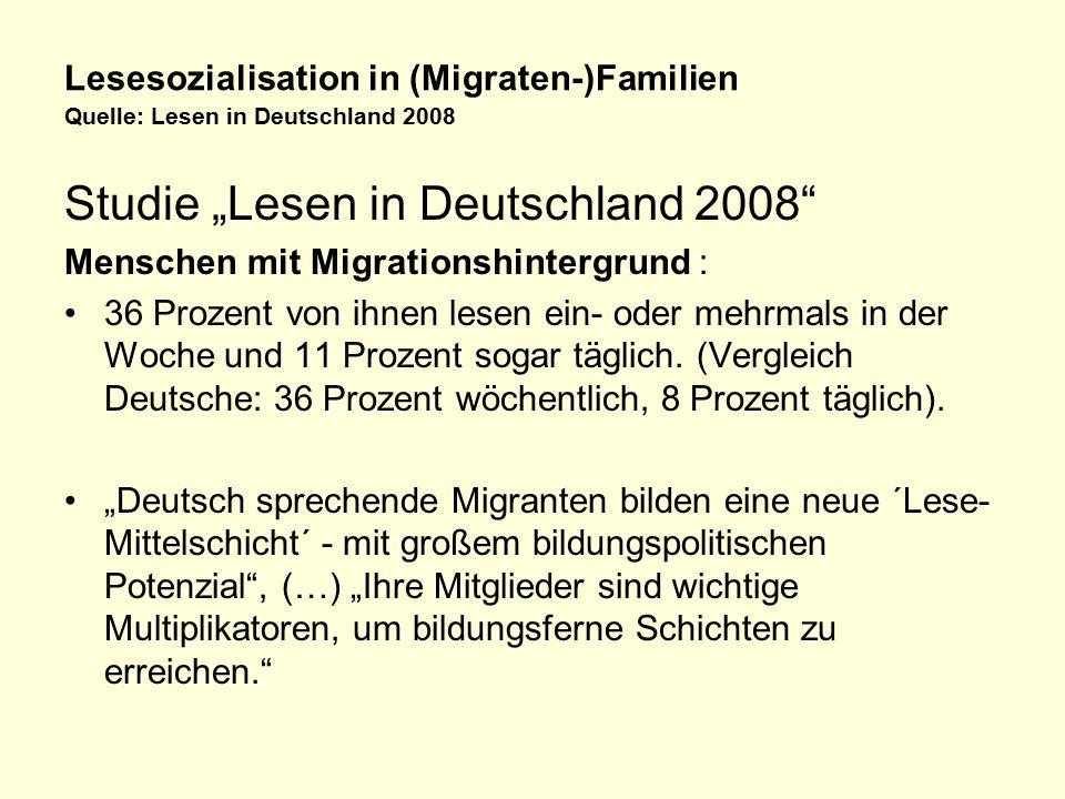 """Studie """"Lesen in Deutschland 2008"""