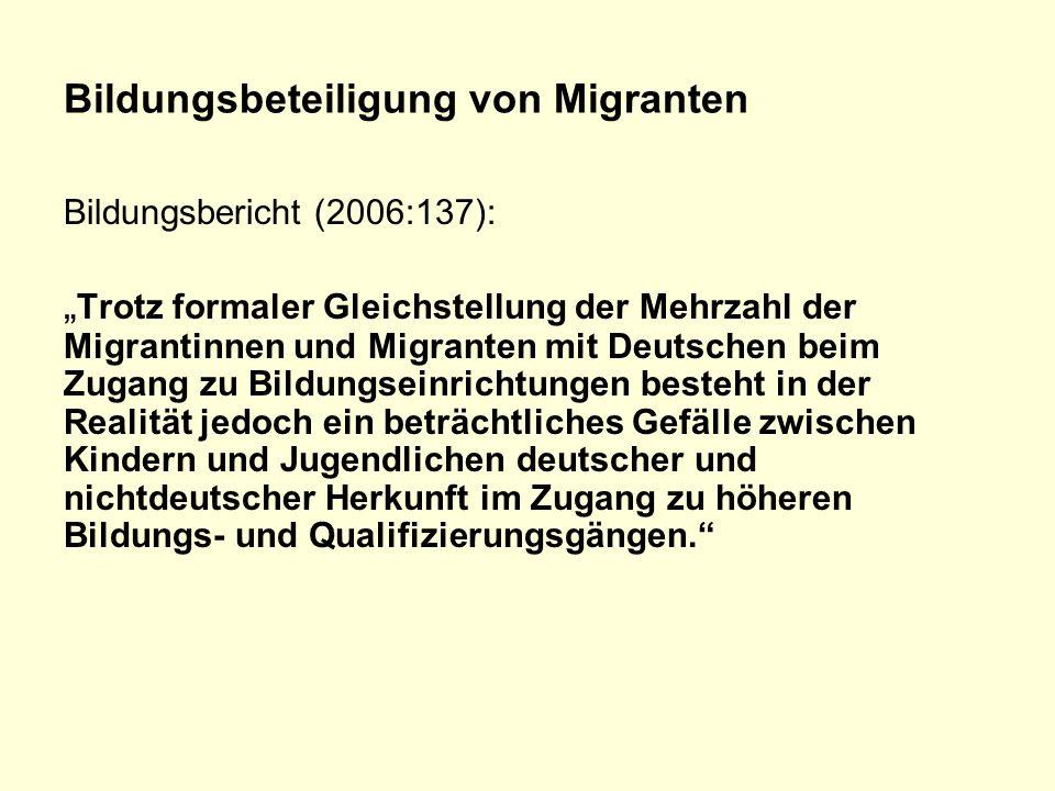 Bildungsbeteiligung von Migranten