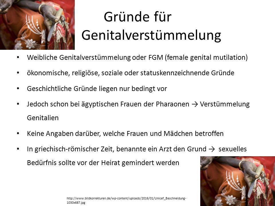Gründe für Genitalverstümmelung