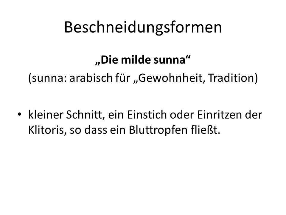 """(sunna: arabisch für """"Gewohnheit, Tradition)"""