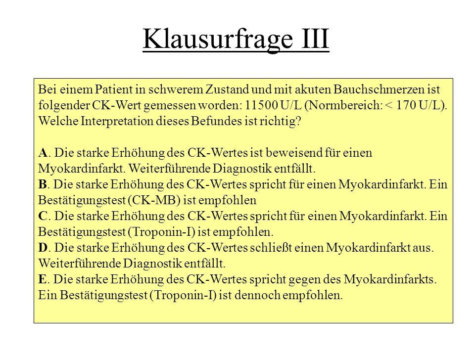 Klausurfrage III
