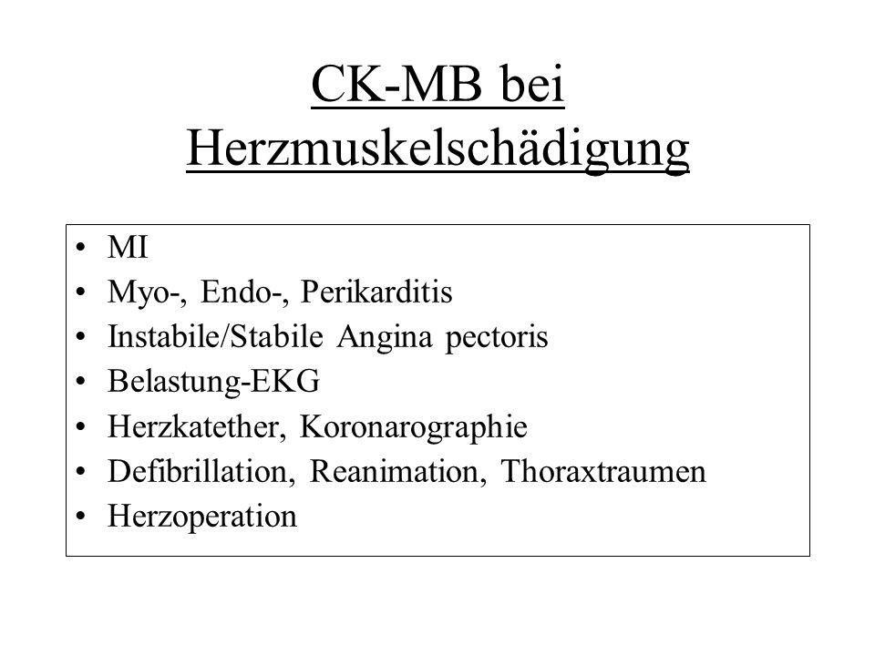 CK-MB bei Herzmuskelschädigung