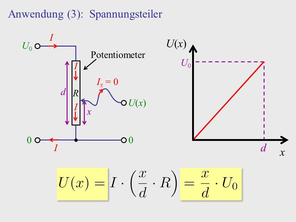 Anwendung (3): Spannungsteiler