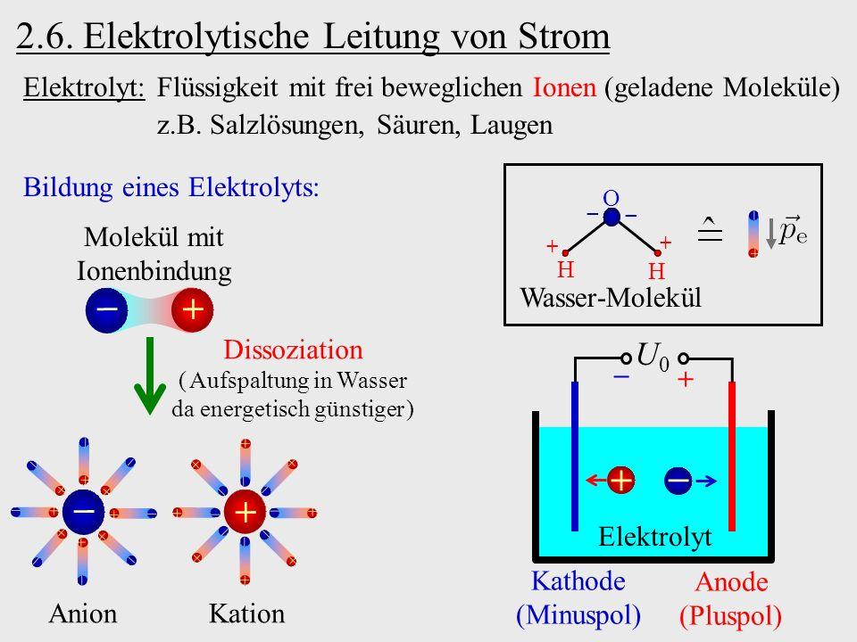 2.6. Elektrolytische Leitung von Strom