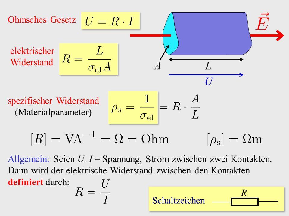 spezifischer Widerstand (Materialparameter)