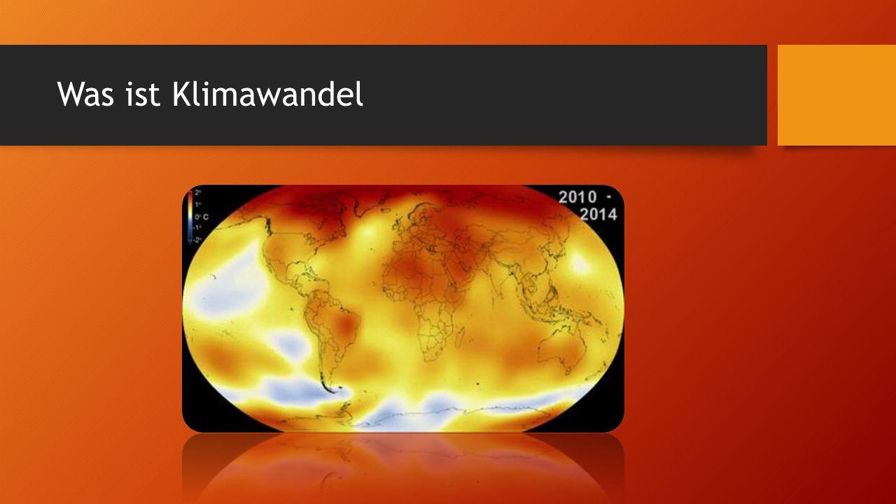 Was ist Klimawandel
