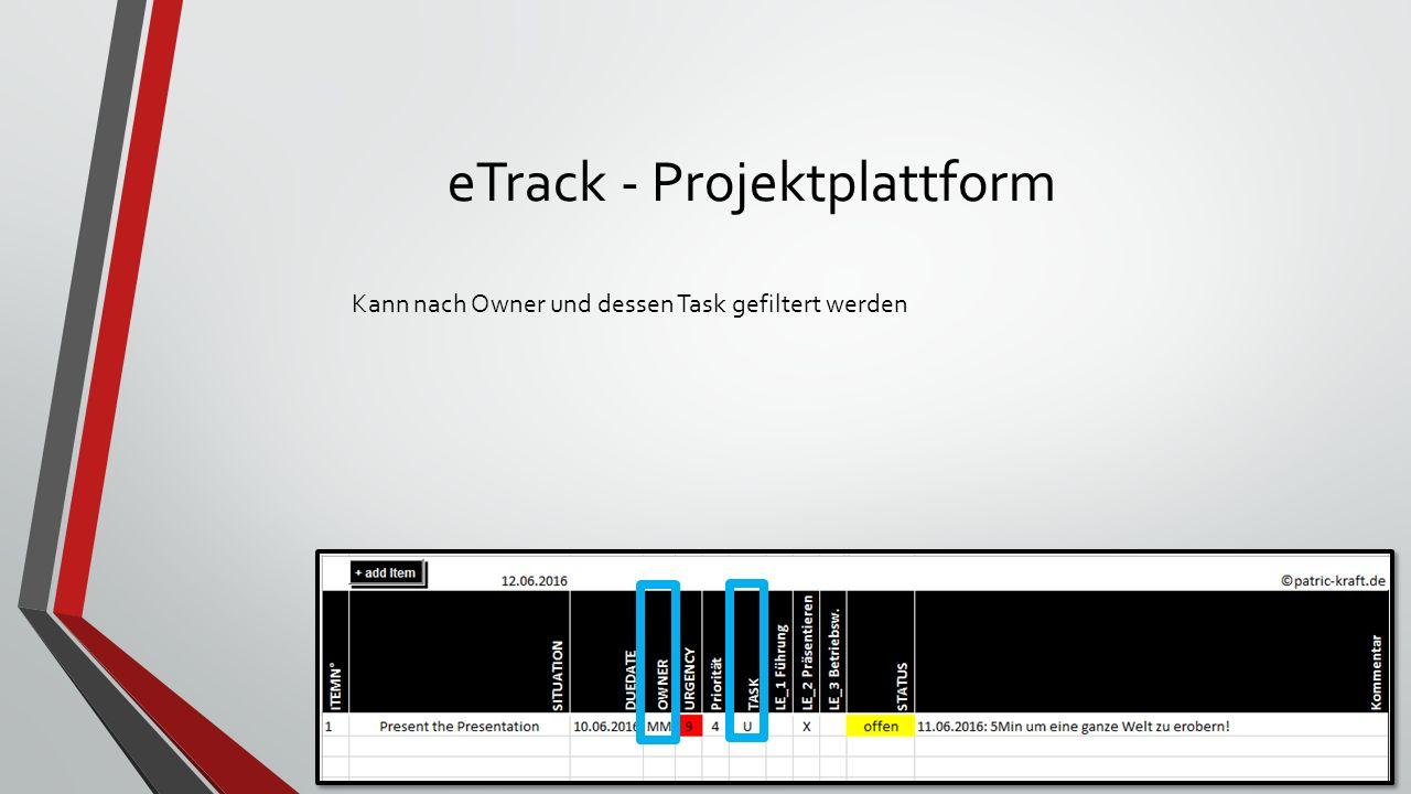 eTrack - Projektplattform