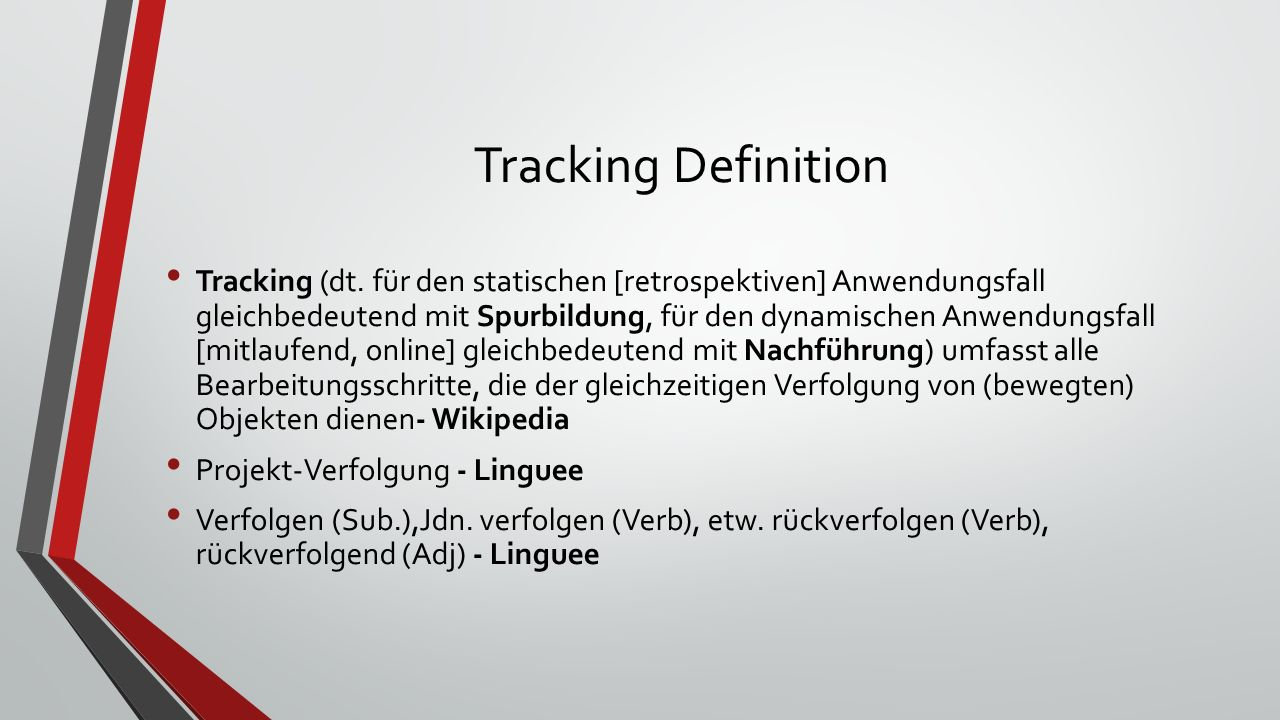 Tracking Definition