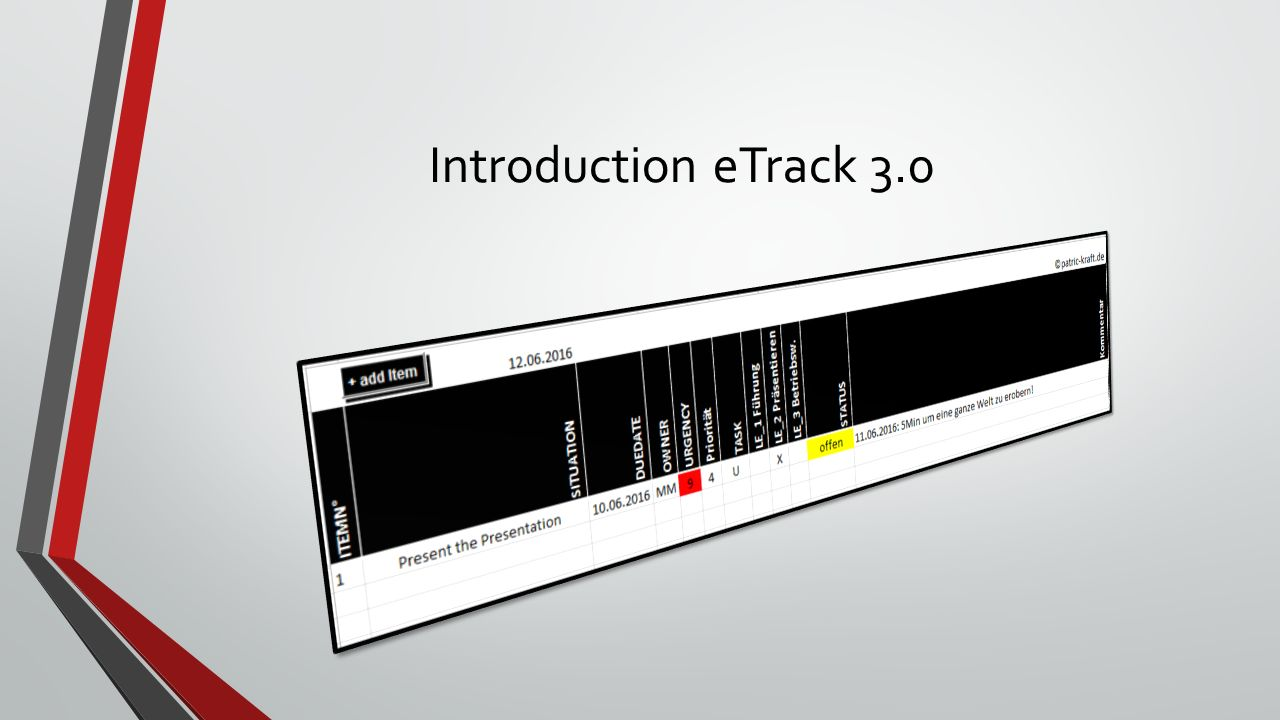 Introduction eTrack 3.0