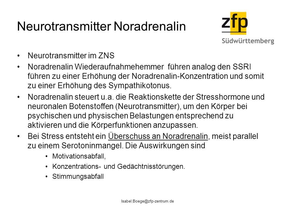 Neurotransmitter Noradrenalin