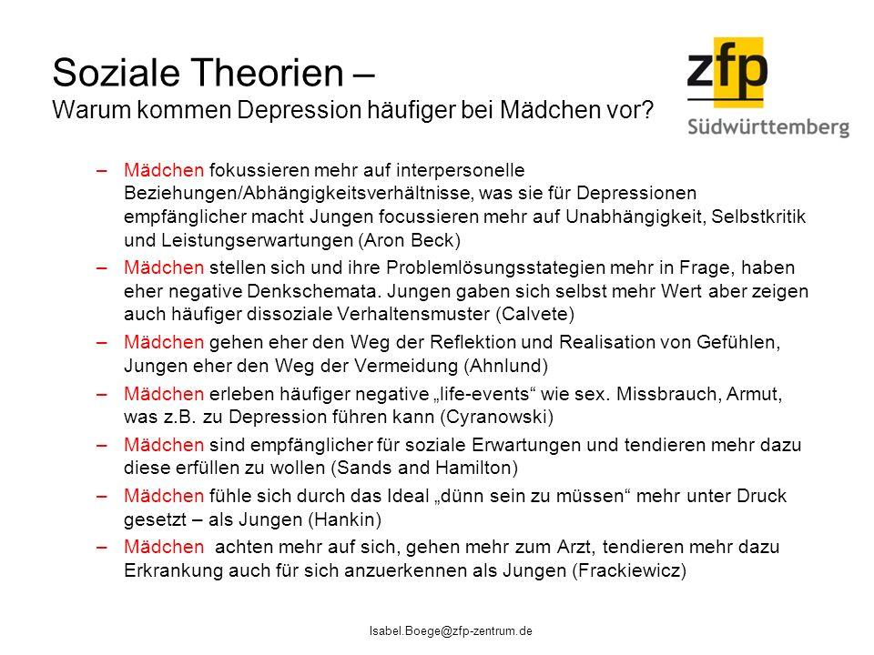 Soziale Theorien – Warum kommen Depression häufiger bei Mädchen vor