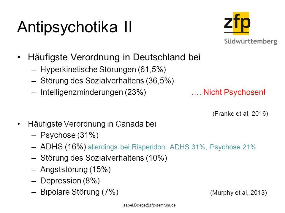 Antipsychotika II Häufigste Verordnung in Deutschland bei