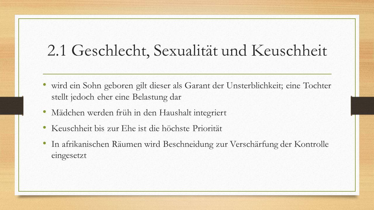 2.1 Geschlecht, Sexualität und Keuschheit
