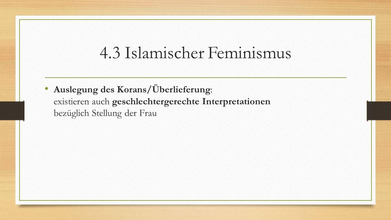 4.3 Islamischer Feminismus