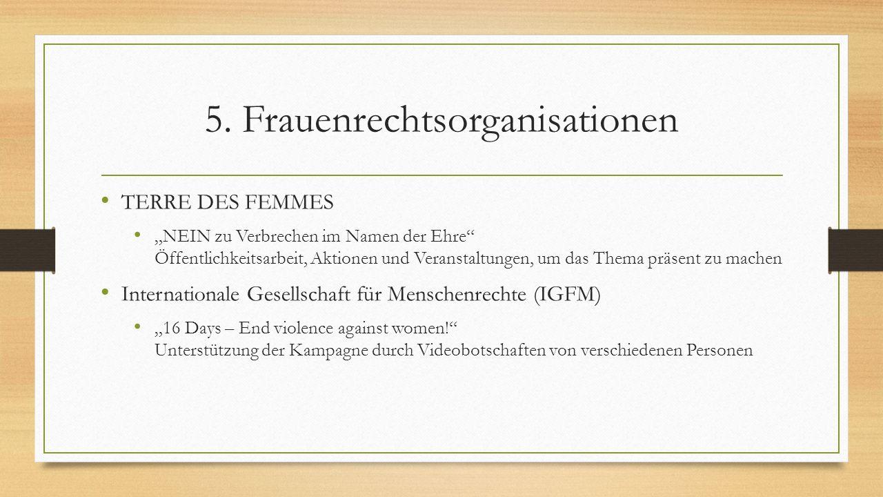 5. Frauenrechtsorganisationen