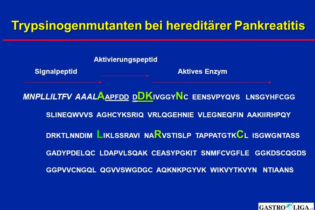 Trypsinogenmutanten bei hereditärer Pankreatitis