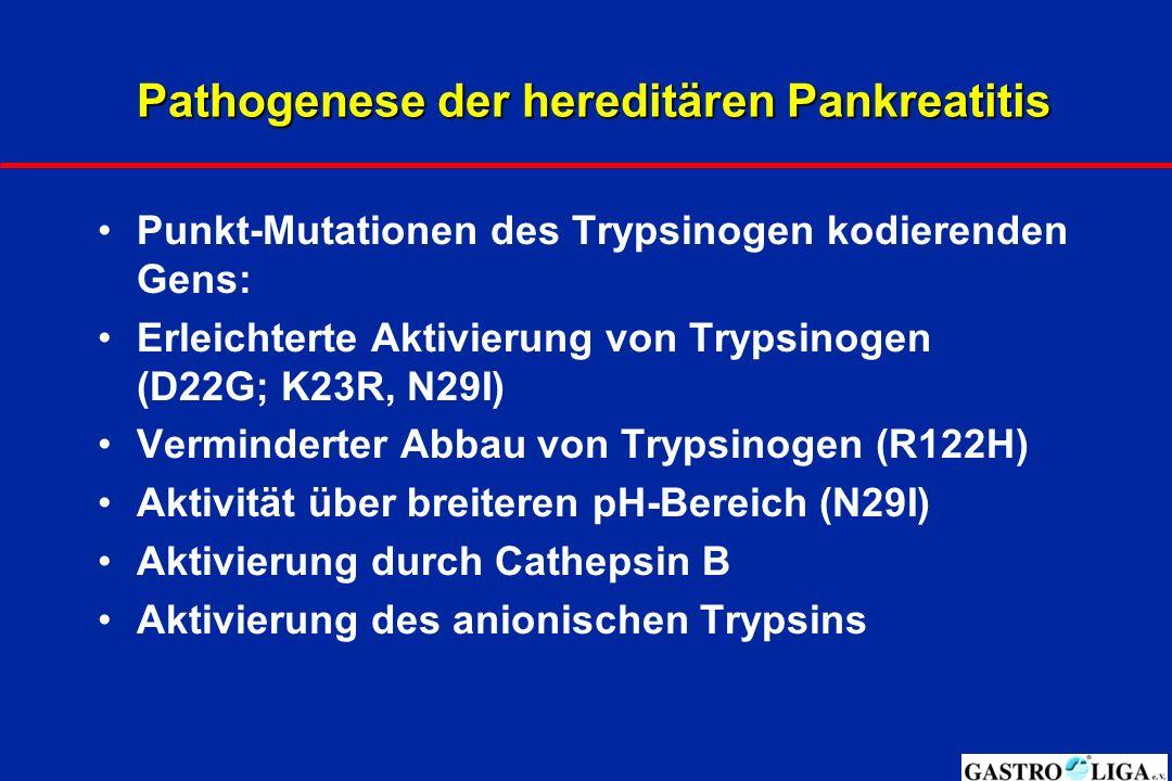 Pathogenese der hereditären Pankreatitis
