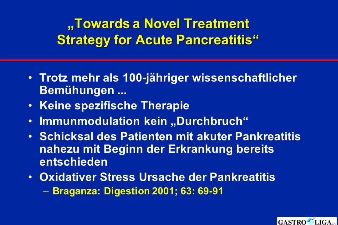 """Towards a Novel Treatment Strategy for Acute Pancreatitis"