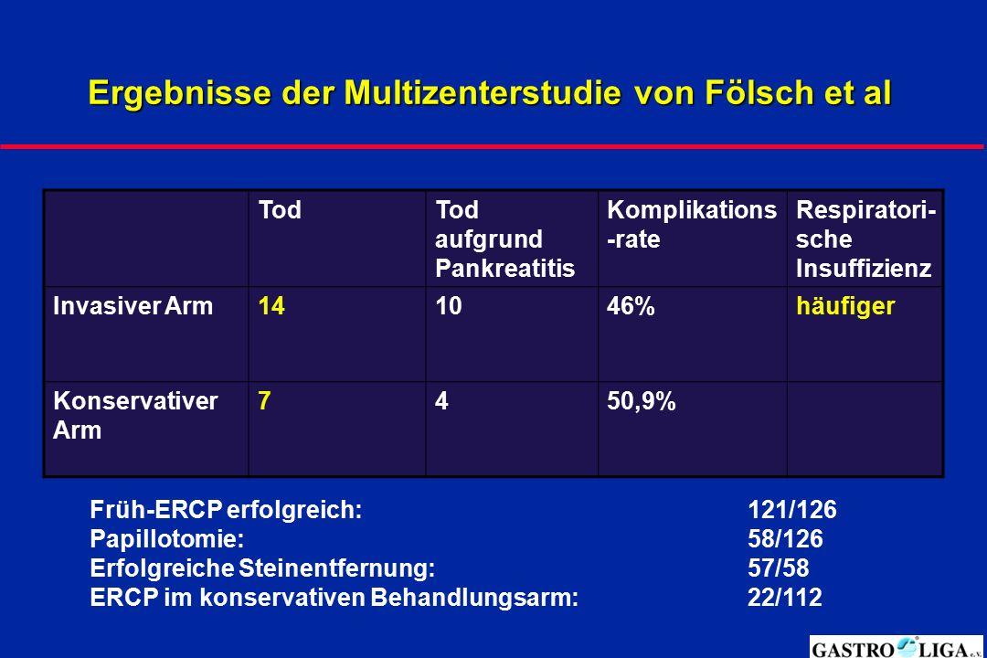 Ergebnisse der Multizenterstudie von Fölsch et al