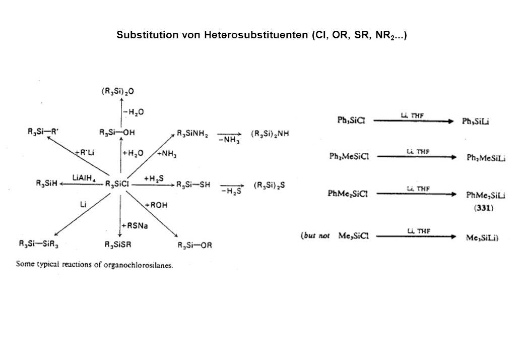 Substitution von Heterosubstituenten (Cl, OR, SR, NR2...)