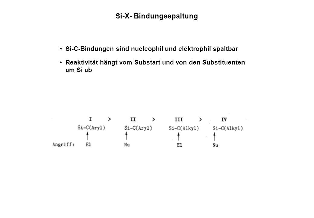 Si-X- Bindungsspaltung