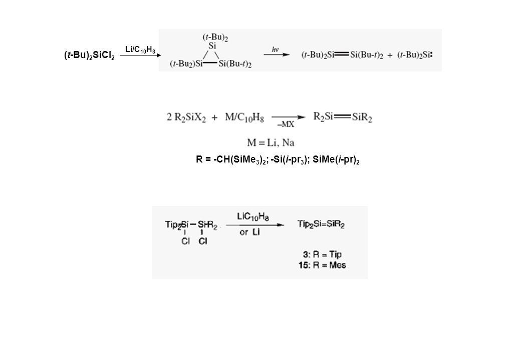 R = -CH(SiMe3)2; -Si(i-pr3); SiMe(i-pr)2