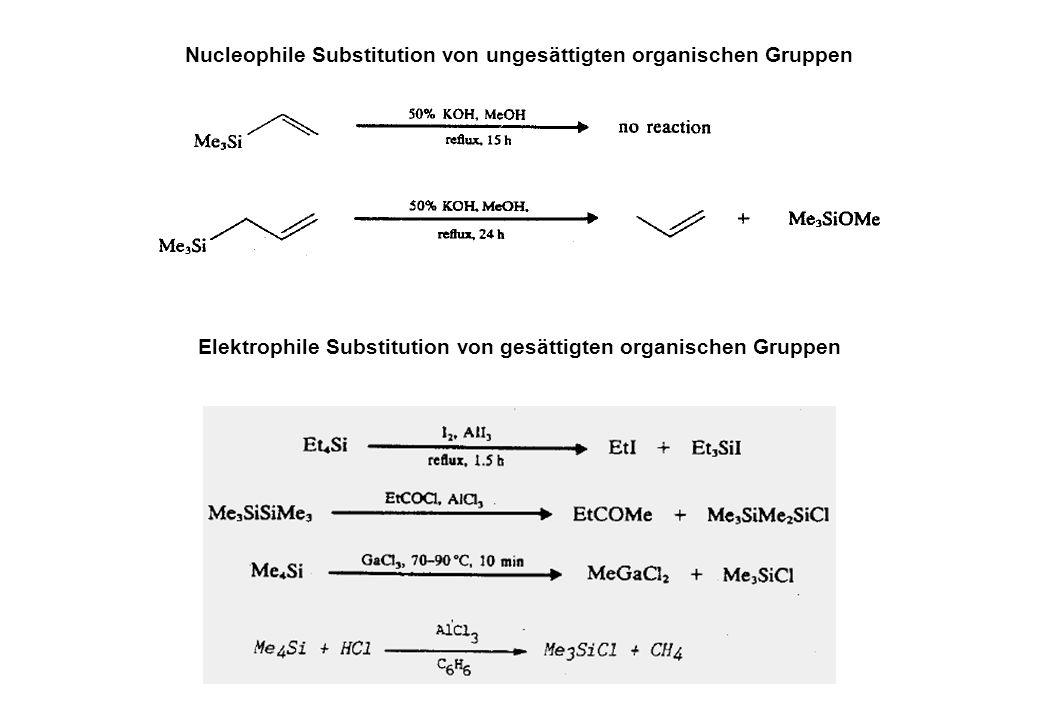 Nucleophile Substitution von ungesättigten organischen Gruppen