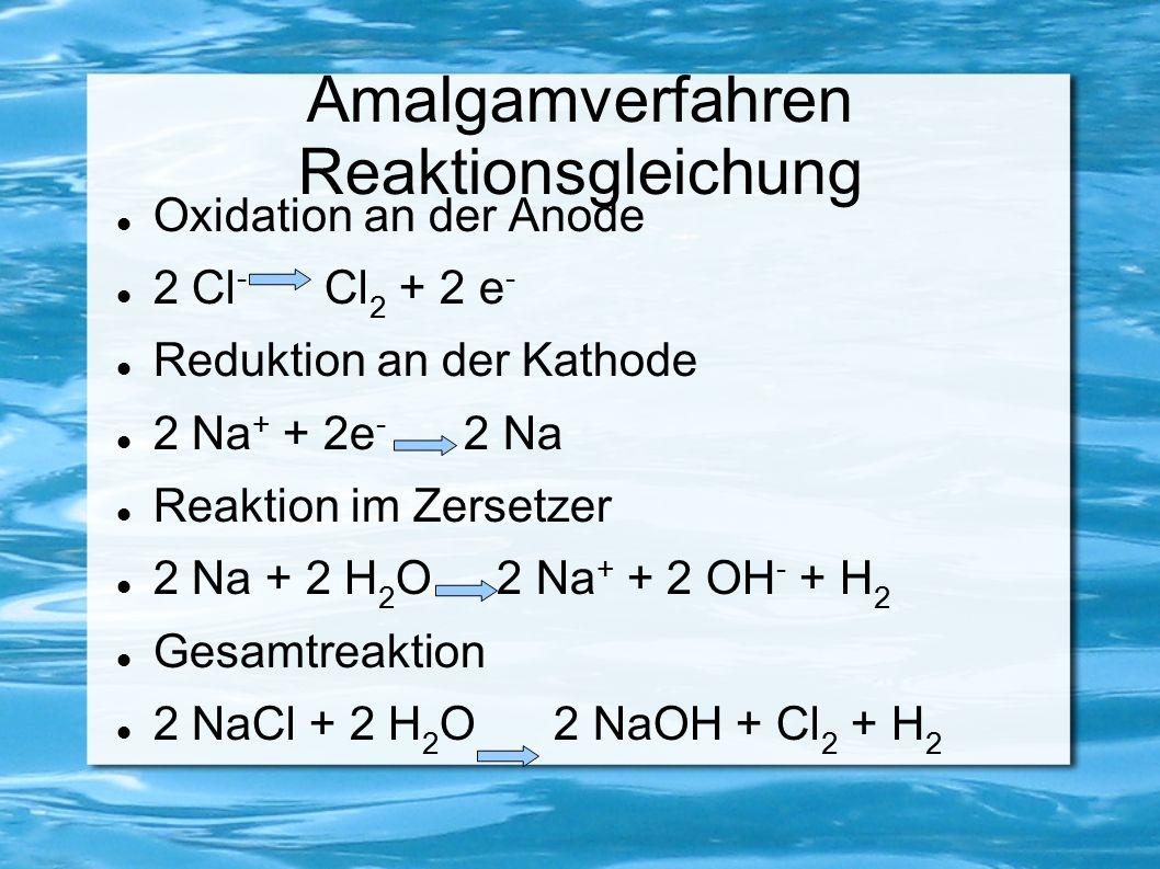 Amalgamverfahren Reaktionsgleichung