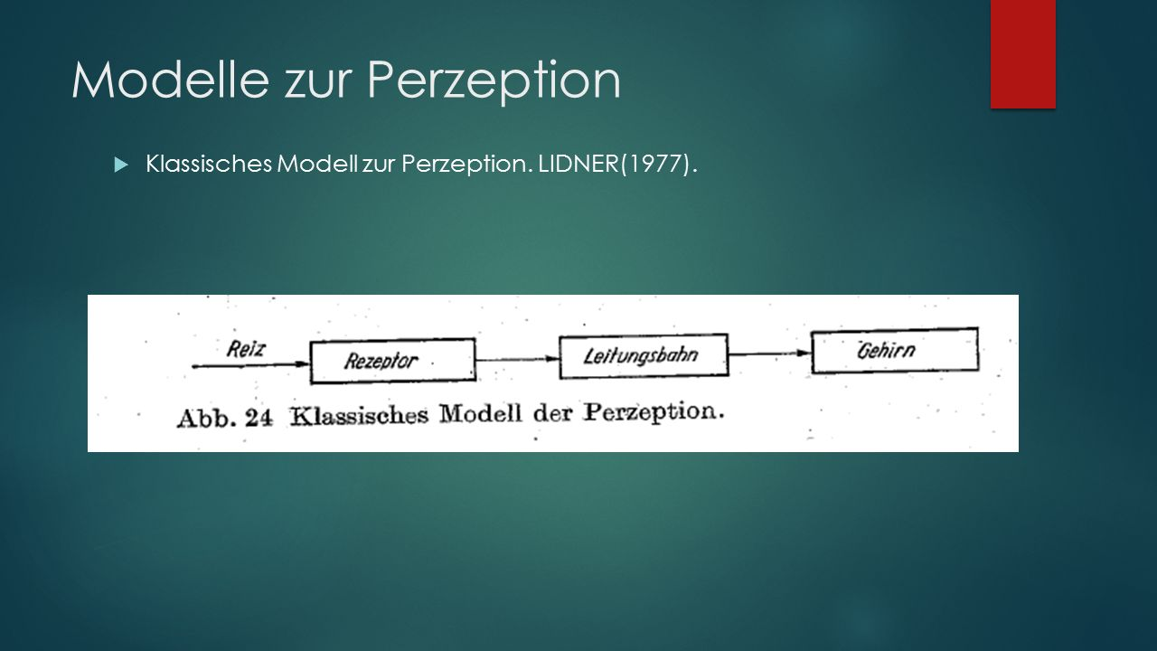 Modelle zur Perzeption