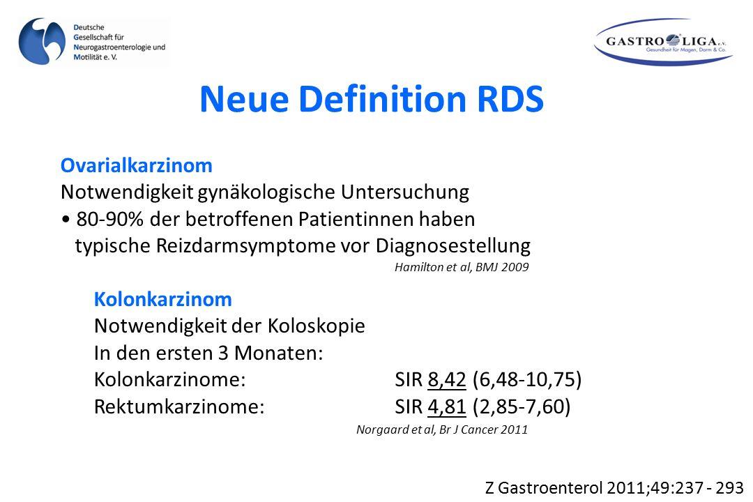 Neue Definition RDS Ovarialkarzinom