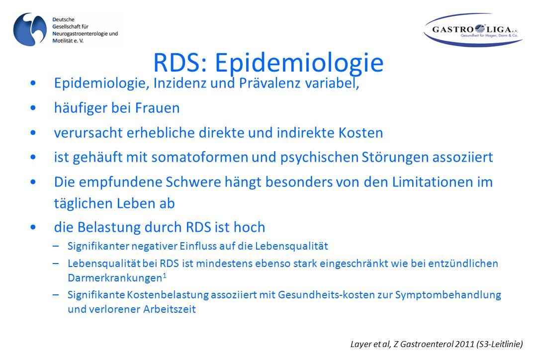 RDS: Epidemiologie Epidemiologie, Inzidenz und Prävalenz variabel,