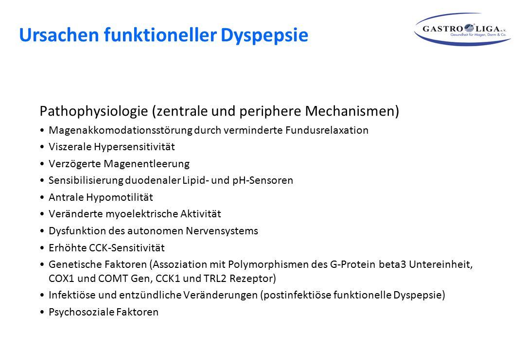 Ursachen funktioneller Dyspepsie